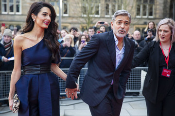 George Clooney Amal Clooney George And Amal Clooney In Edinburgh To Receive Charity Award