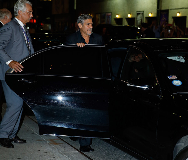 George Clooney leaving the late show Stephen Colbert 8th September 2015 George+Clooney+Celebrities+Attend+First+Taping+2GSgB9_nQr2l