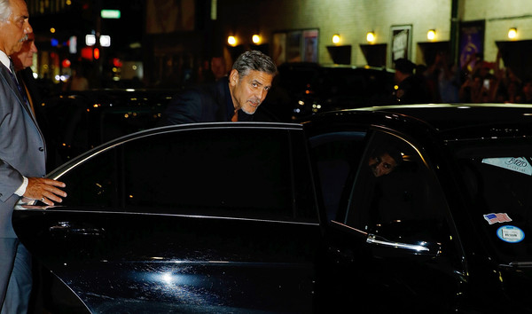 George Clooney leaving the late show Stephen Colbert 8th September 2015 George+Clooney+Celebrities+Attend+First+Taping+NI-YGy0PfC8l