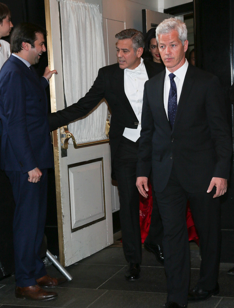 George Clooney at the Met Gala 4th May 2015 - Page 2 George+Clooney+MET+Gala+2015+Departures+Carlyle+BniXD8XhqEox