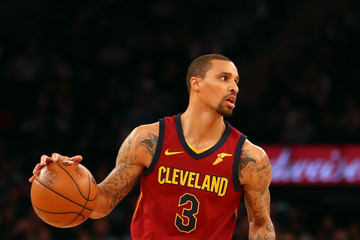George Hill Cleveland Cavaliers v New York Knicks