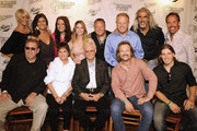 Back Row: Singers and Songwriters, The McClymonts, Mollie McClymont, Sam McClymont, Brooke McClymont, Elaine Roy of The Roys, Guest, Darrin Vincent of Dailey & Vincent, Guy Penrod and Billy Yates. Front Row: Eddie Raven, Billy Joe Shaver, Nancy Jones, George Jones, Trivis Tritt and Jason Michael Carroll attends George Jones' 80th birthday party at Rippy's Bar & Grill on September 13, 2011 in Nashville, Tennessee.