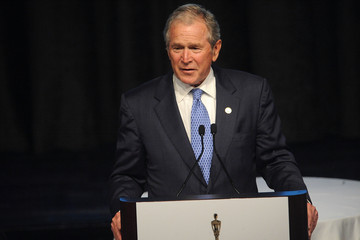 George W Bush Former President of the United States George W. Bush Attends the 2015 Father of the Year Luncheon Awards