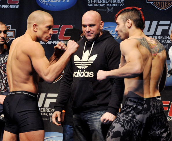 Georges St-Pierre and Dan Hard...
