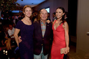 Emma Bloomberg, Michael Bloomberg, and Georgina Bloomberg attend the Celebration of The Inaugural Longines Global Champions Tour Of New York with Georgina Bloomberg And The New York Empire GCL Team at Manhatta on September 28, 2019 in New York City.