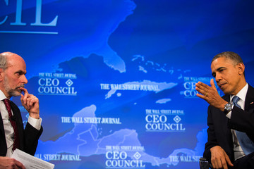 Gerald Seib Barack Obama Speaks at Wall Street Journal Council Meeting