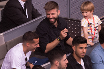Gerard Pique Lucas Vazquez Mutua Madrid Open - Day Seven