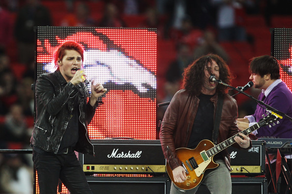 Gerard Way Gerard Way (L) and Ray Toro of My Chemical Romance entertain the crowd before the NFL International Series match between Denver Broncos and San Francisco 49ers at Wembley Stadium on October 31, 2010 in London, England. This is the fourth occasion where a regular season NFL match has been played in London.