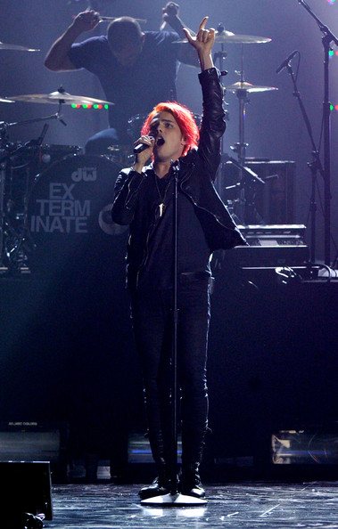 "Gerard Way Musician Gerard Way from the musical group My Chemical Romance performs onstage during Spike TV's ""2010 Video Game Awards"" held at the LA Convention Center on December 11, 2010 in Los Angeles, California."