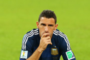 A dejected Maxi Rodriguez of Argentina looks on after being defeated by Germany 1-0 in extra time during the 2014 FIFA World Cup Brazil Final match between Germany and Argentina at Maracana on July 13, 2014 in Rio de Janeiro, Brazil.
