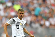 Thomas Mueller of Germany during the 2018 FIFA World Cup Russia group F match between Germany and Mexico at Luzhniki Stadium on June 17, 2018 in Moscow, Russia.
