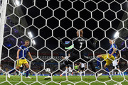 Julian Draxler of Germany attempts to score past Robin Olsen of Sweden during the 2018 FIFA World Cup Russia group F match between Germany and Sweden at Fisht Stadium on June 23, 2018 in Sochi, Russia.