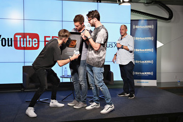 Geronimo The Chainsmokers Host Their SiriusXM Show, 'The YouTube EDM 15' From the YouTube Space in New York City