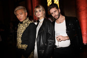(L-R) Bryanboy, Xenia Adonts and Pelayo Diaz attend 'Giambattista Valli Loves H&M Cocktail Dinatorie' on October 24, 2019 in Rome, Italy.