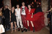 Alexa Demie, Troye Sivan, Jacob Bixenman and Sofia Carson attend 'Giambattista Valli Loves H&M Cocktail Dinatorie' on October 24, 2019 in Rome, Italy.