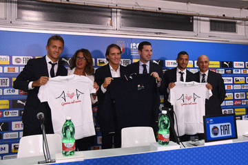 Gianluca Caprari Italy Walk Around And Press Conference