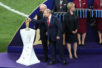 Gianni Infantino France v Croatia - 2018 FIFA World Cup Russia Final