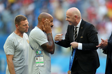 Gianni Infantino Belgium vs. England: 3rd Place Playoff - 2018 FIFA World Cup Russia