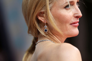 Gillian Anderson EE British Academy Film Awards 2014 - Alternative View In Colour