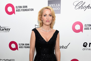 Gillian Anderson Arrivals at the Elton John AIDS Foundation Oscars Viewing Party — Part 3