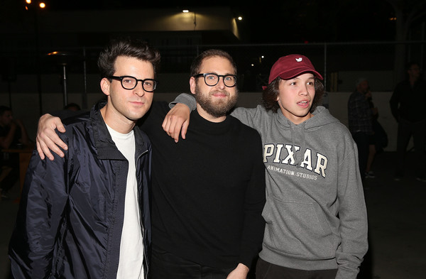 Premiere Of A24's 'Mid90s' - After Party [eyewear,cool,event,fun,vision care,flash photography,glasses,gio galicia,jonah hill,eli bush,l-r,california,a24,premiere,party,premiere,party]