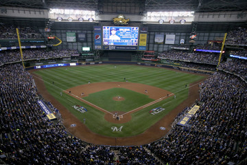 Gio Gonzalez League Championship Series - Los Angeles Dodgers v Milwaukee Brewers - Game One