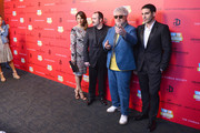"""(L to R) Blanca Suarez, Carlos Areces, Pedro Almodovar, and Miguel Angel Silvestre attend Girard-Perregaux And The Cinema Society With DeLeon Host a Screening Of Sony Pictures Classics' """"I'm So Excited"""" at Sunshine Landmark on June 6, 2013 in New York City."""