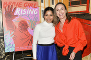 "Freida Pinto (L) and Martha Adams attend Girl Rising and International Rescue Committee's special screening of Documentary Film ""Brave Girl Rising"" for International Women's Day at West Hollywood City Council Chamber on March 08, 2019 in West Hollywood, California."