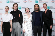 "(L-R) Sylvia Hoeks, Sverrir Gudnason, Claire Foy, Fede Alvarez and Synnove Macody Lund attend ""The Girl In The Spider's Web"" photocall during the 13th Rome Film Fest at Auditorium Parco Della Musica on October 24, 2018 in Rome, Italy."
