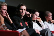 "(L-R) Synnove Macody Lund, Sverrir Gudnason, Claire Foy and Sylvia Hoeks  attend the ""The Girl In The Spider's Web"" press conference during the 13th Rome Film Fest at Auditorium Parco Della Musica on October 24, 2018 in Rome, Italy."