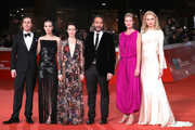 "(L-R) Sverrir Gudnason, Sylvia Hoeks, Claire Foy, Fede Alvarez, Synnove Macody Lund and Andreja Pejic walk the red carpet ahead of the ""The Girl In The Spider's Web"" screening during the 13th Rome Film Fest at Auditorium Parco Della Musica on October 24, 2018 in Rome, Italy."