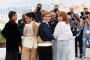 """Producer Didar Domehri, actress Golshifteh Farahani, director Eva Husson and actress Emmanuelle Bercot attend the photocall for """"Girls Of The Sun (Les Filles Du Soleil)"""" during the 71st annual Cannes Film Festival at Palais des Festivals on May 13, 2018 in Cannes, France."""