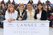 """(L-R) Actress Emmanuelle Bercot, director Eva Husson, actress Golshifteh Farahani and producer Didar Domehri attend the photocall for """"Girls Of The Sun (Les Filles Du Soleil)"""" during the 71st annual Cannes Film Festival at Palais des Festivals on May 13, 2018 in Cannes, France."""