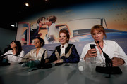 """(L-R) Didar Domehri,  Golshifteh Farahani, Eva Husson and Emmanuelle Bercot  attend the press conference for """"Girls Of The Sun (Les Filles Du Soleil)"""" during the 71st annual Cannes Film Festival at Palais des Festivals on May 13, 2018 in Cannes, France."""