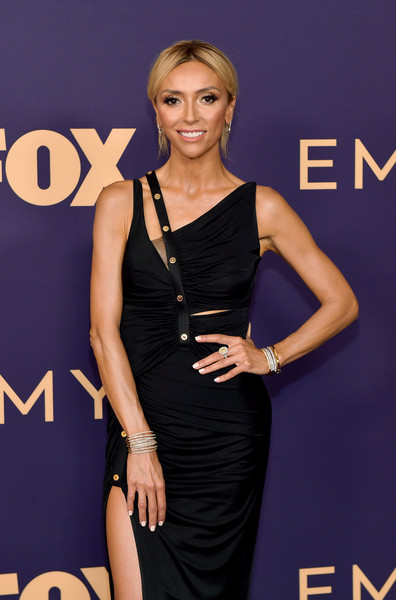 71st Emmy Awards - Arrivals [clothing,dress,little black dress,cocktail dress,hairstyle,fashion,shoulder,carpet,fashion model,premiere,arrivals,giuliana rancic,emmy awards,microsoft theater,los angeles,california]