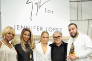 (L-R) Mary J. Blige, Ciara, Jennifer Lopez, Giuseppe Zanotti and French Montana attend the Giuseppe for Jennifer Lopez Launch at Neiman Marcus Beverly Hills on January 26, 2017 in Beverly Hills, California.