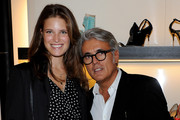 (L-R) Alessia Piovan and Giuseppe Zanotti attend Giuseppe Zanotti Design during the Milan Fashion Week Womenswear S/S 2011  on September 25, 2010 in Milan, Italy.