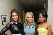 She gets fancy with Tory Burch and Jessica Alba. - Kerry Washington's Celebrity Friends
