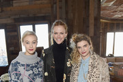 (L-R) Sarah Gadon, Brooklyn Decker and Megan Ferguson attend Glamour's Women Rewriting Hollywood Lunch at Sundance Hosted By Lena Dunham, Jenni Konner and Cindi Leive on January 26, 2016 in Park City, Utah.