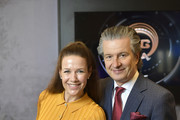 Alexandra Neldel and CEO of Glashuette Thomas Meier attends the Glashuette Original Lounge at The 68th Berlinale International Film Festival at Grand Hyatt Hotel on February 18, 2018 in Berlin, Germany.