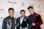 Rafael Amargo (C) attends the Global Gift Gala 2017 red carpet at Gran Melia Don pepe Resort on July 16, 2017 in Marbella, Spain.