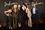 "(L-R) Ella Hunt, Jane Krakowski, Anna Baryshnikov, Alena Smith, Adrian Blake Enscoe, Hailee Steinfeld and Toby Huss attend Apple's Global Premiere for ""Dickinson"" on October 17, 2019 in Brooklyn, New York. ""Dickinson"" debuts on Apple TV+, the first all-original video subscription service, on November 1."