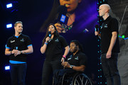 (L-R) Sam Branson, Marion Bartoli, Ade Adepitan and Noah Devereux attend as Free The Children hosts their debut UK global youth empowerment event, We Day at Wembley Arena on March 7, 2014 in London, England.