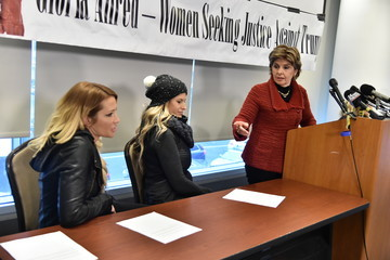 Gloria Allred Accusers of President Donald Trump Hold Press Conference With Attorney Gloria Allred at the Women's March in Washington