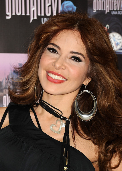 "Mexican singer Gloria Trevi presents her new album ""Una Rosa Blu"" at Hotel de las Letras"" on July 2, 2009 in Madrid, Spain."
