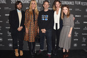 """(L-R) Jason Schwartzman, Chloe Sevigny,  Musician Adam Horovitz, Analeigh Tipton and Emily Browning attend  the """"Golden Exits"""" Premiere on day 4 of the  2017 Sundance Film Festival at Library Center Theater on January 22, 2017 in Park City, Utah."""