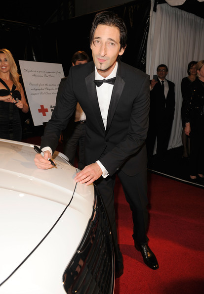 Actor Adrien Brody arrives at NBCUniversal/Focus Features Golden Globes Viewing and After Party sponsored by Chrysler held at The Beverly Hilton hotel on January 16, 2011 in Beverly Hills, California.