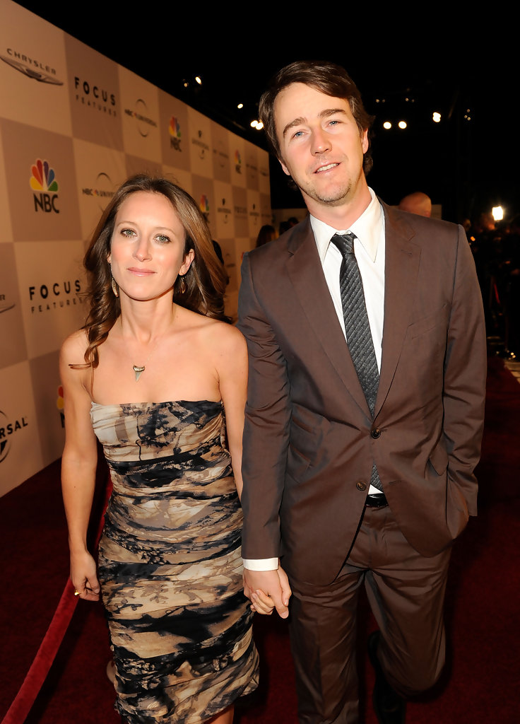 Edward Norton and Shauna Robertson Photos Photos - Golden ...