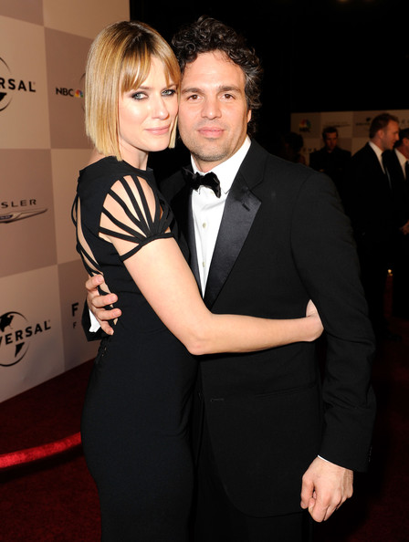 Actress Sunrise Coigney and actor Mark Ruffalo arrive at NBCUniversal/Focus Features Golden Globes Viewing and After Party sponsored by Chrysler held at The Beverly Hilton hotel on January 16, 2011 in Beverly Hills, California.