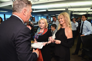 Goldie Hawn Annual Charity Day Hosted By Cantor Fitzgerald, BGC and GFI - Cantor Fitzgerald Office - Inside